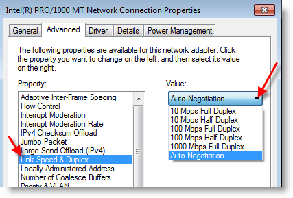 Valley Computer 206.730.1111 Network-Slow-NIC