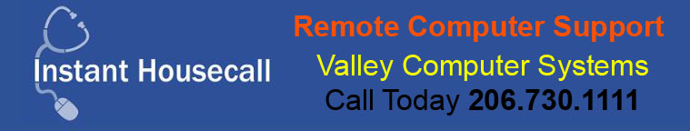 Valley Computer System 206.730.1111 Get Remote Computer Support
